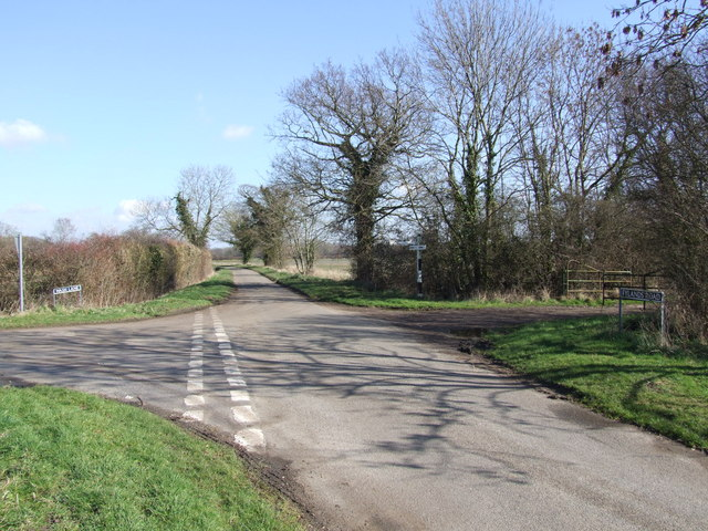 Country Lane Junction and Farm Track to Fylands' Farm