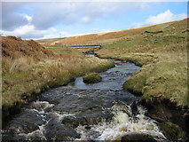 NY7594 : Looking towards Dummy's Hole and bridge over Ashy Cleugh by Les Hull