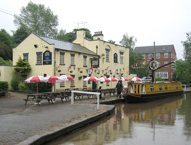 The Shropshire Fly Pub  at  Audlem