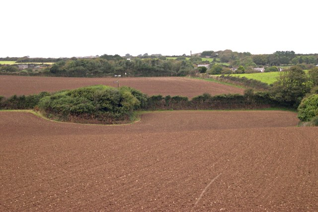 Fields south of Mithian