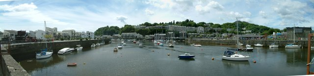 Panorama of Porthmadog Harbour