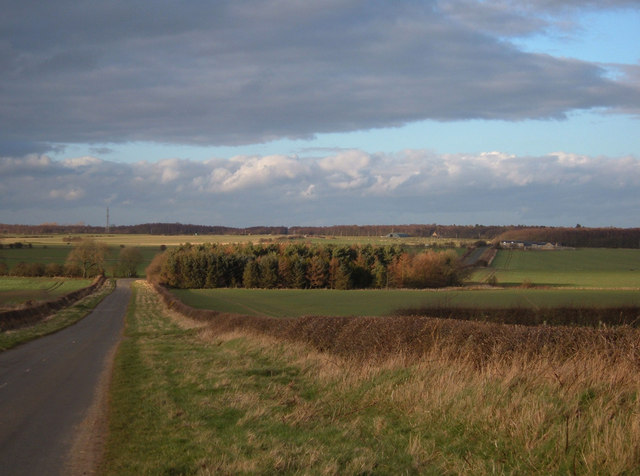 Farmland north of Saltwick
