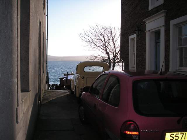 The sea from Victoria Street