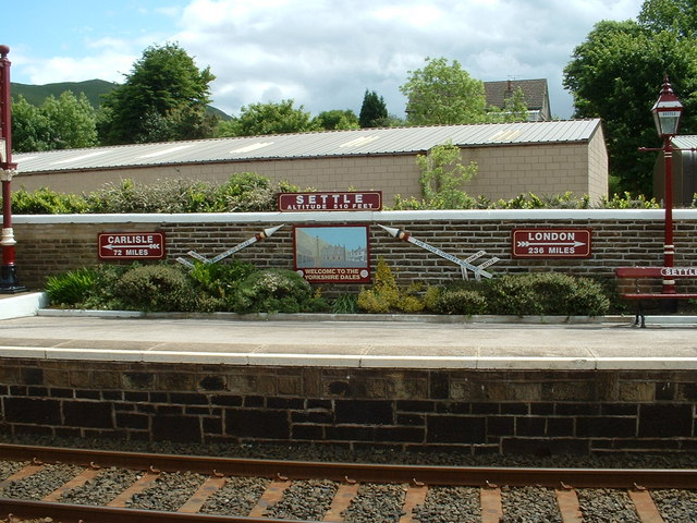Signs on Settle Station