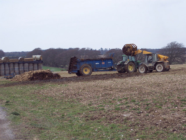 Muck spreading at Netton Farm