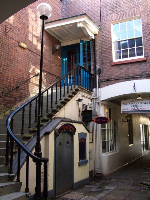 Staircase on Queen's Walk, Exeter