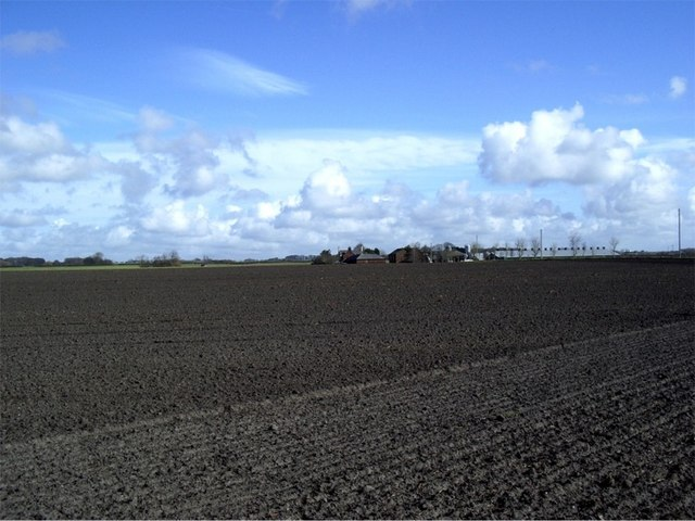 Ploughed land at Lower End farm