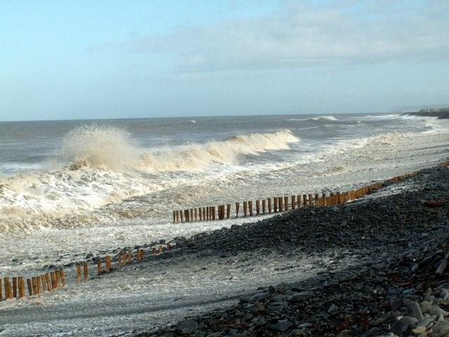 Crashing Waves on Llanrhystud Beach