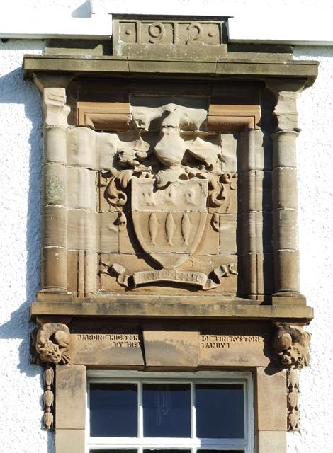 Dedication stone on Kidston Hall