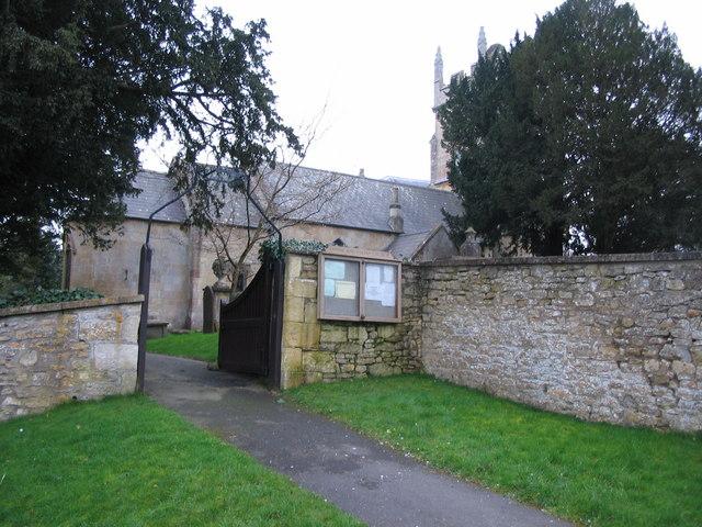Gate to Combe Hay parish church