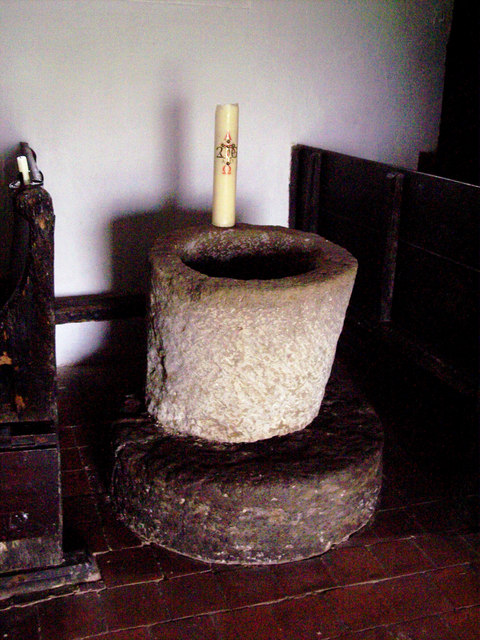 St Andrew's Church, Didling - Font