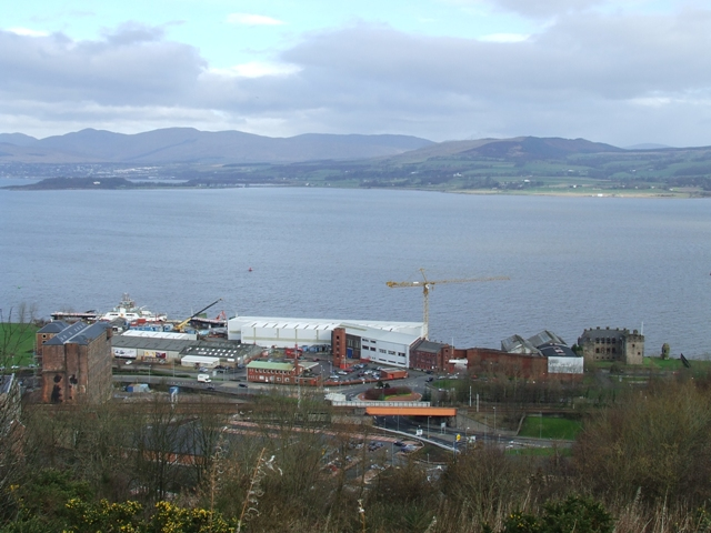 Newark and the Clyde from Ardmore Road
