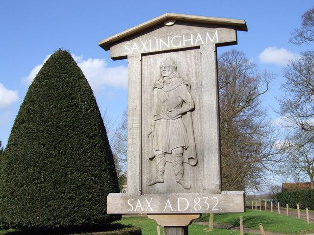 Saxlingham Village Sign