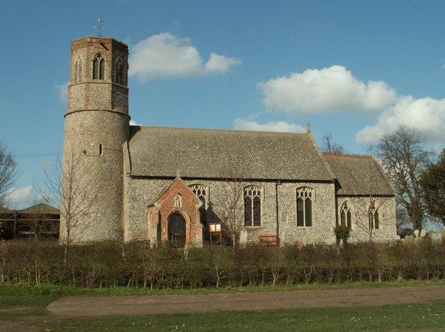 All Saints church at Thorpe Abbotts