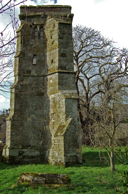 Ruined church of St Mary's at East Compton