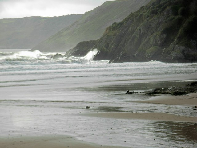 West from Caswell Bay