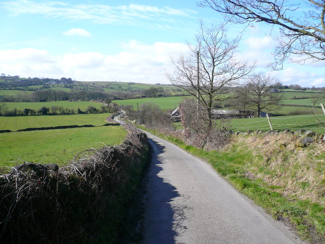 Bolehill Lane - View towards Press Fisheries