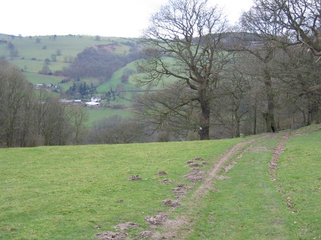 Offas Dyke Path near Chirk Castle