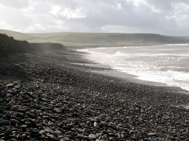 The Cobbled Beach at Llansantffraed