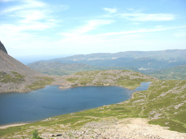 A kettle lake on the Llyn Gadair moraine at the north end of the main lake