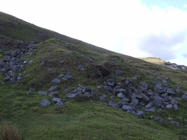 Small collapsed lime kiln