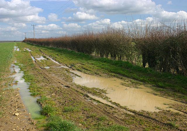 Flooded footpath near Tackley