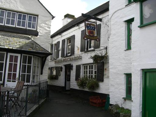 Three Pilchards pub, Polperro Village