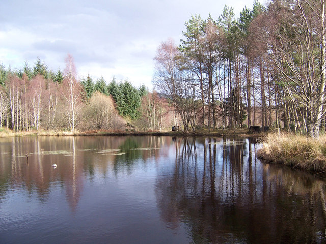 The lochan in the north-east corner of the square.