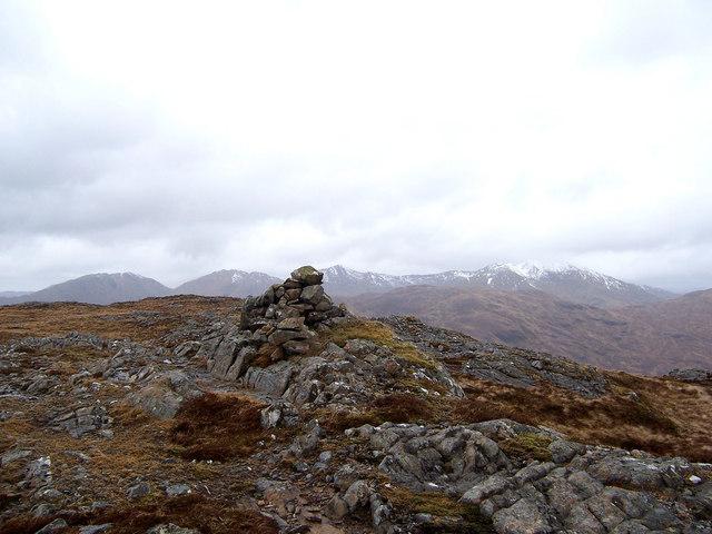 The summit cairn of Aodann Chleireig.