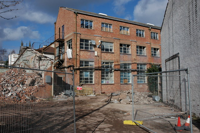 Factory demolition, Worcester