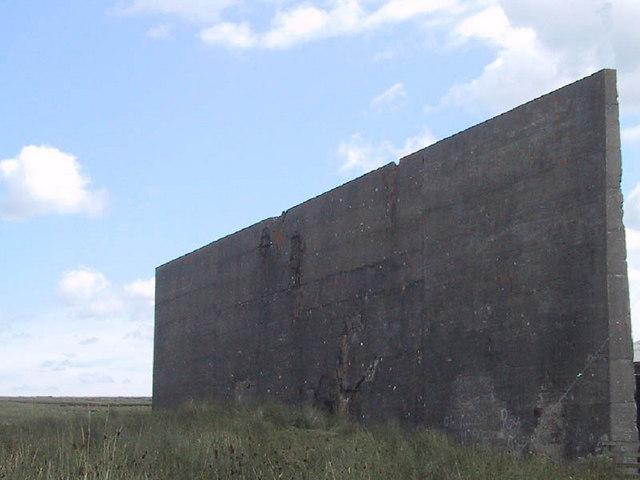 WW2 bombing target wall, Braid Fell
