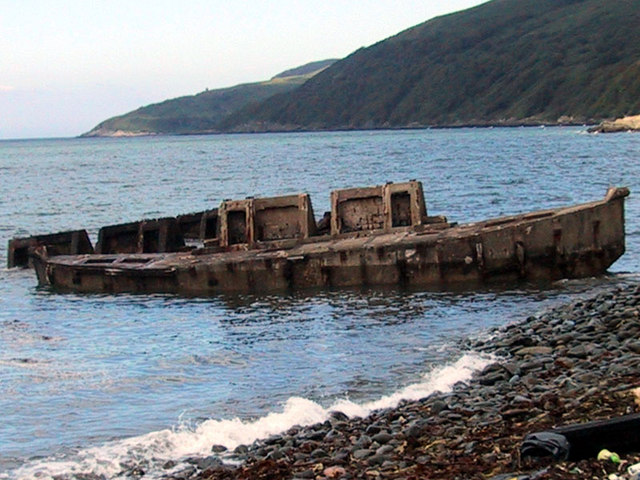 Loch Ryan Old House Point, Mulberry Harbour 'Beetles'