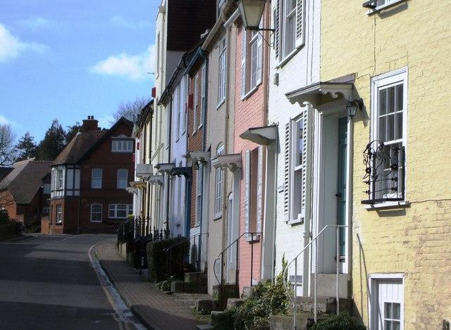 Cottages in Lymington.