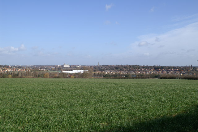 A view looking across Kettering from Broughton Grange.