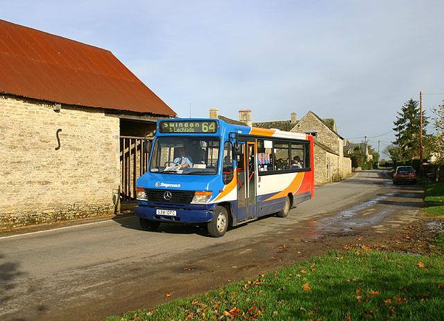 The Swindon bus passes through Kencot