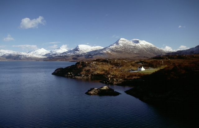 Bad-Callda cottage on the Shieldaig Peninsula
