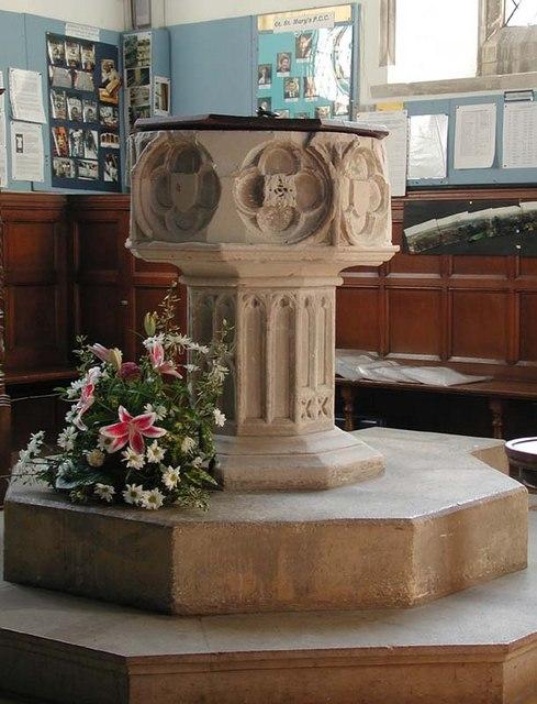 St Mary the Great, Sawbridgeworth, Herts - Font