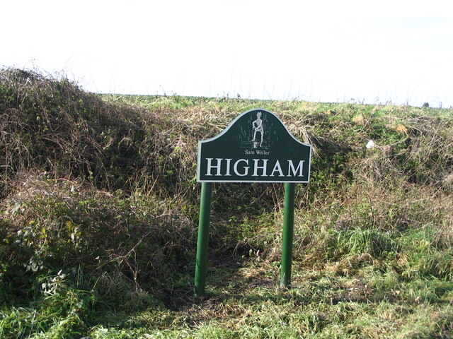 One of the new Higham village signs
