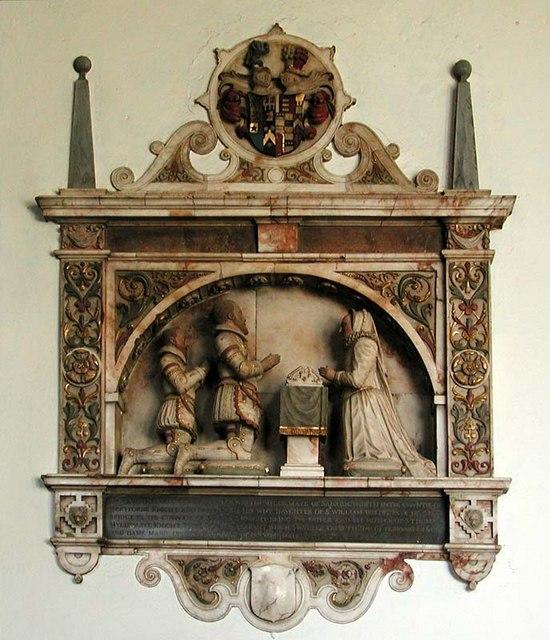 St Mary the Great, Sawbridgeworth, Herts - Wall monument