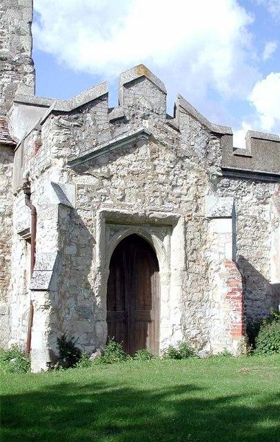St Mary Magdalene, Caldecote, Herts - Porch