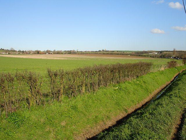 Farmland north of Lower Road