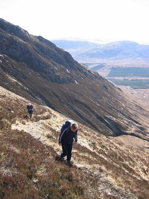 On the zig-zag path,  Stob a' Choire Odhair