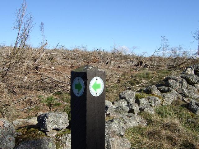 Wester Kincardine Path sign