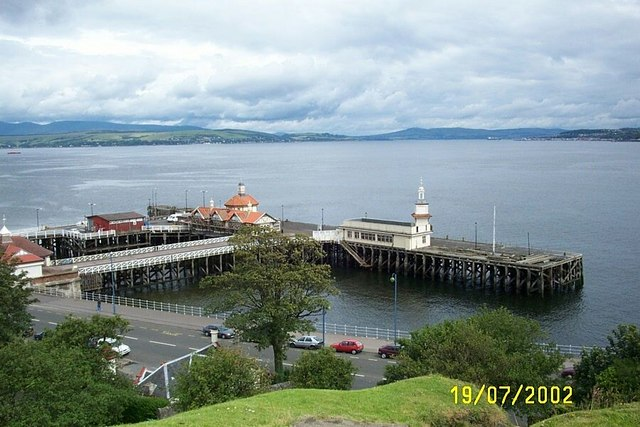 Dunoon Pier from outside the museum