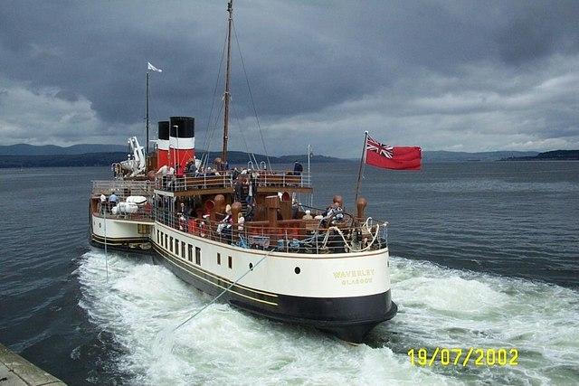 Waverley leaving Dunoon Pier
