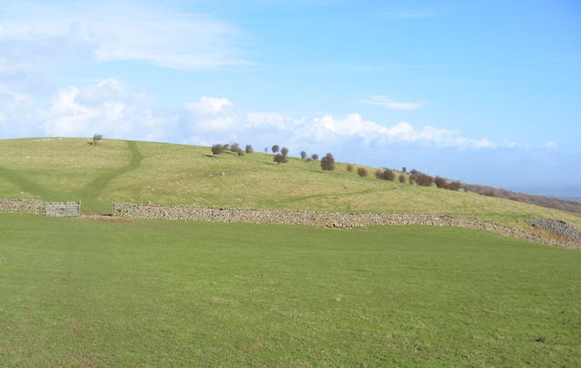 View towards the 203m summit on Hampsfell