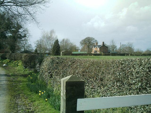 Stublach House, off  Byley  Lane , nr Shakerley Mere.