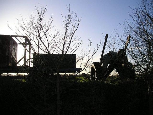 Agricultural equipment near Decoy Hill
