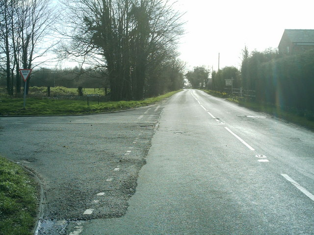 B5081 Byley Lane, nr Shakerley Mere
