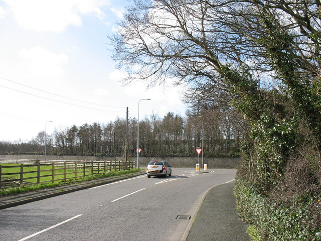 Junction of the Penrhos road with the A487(T)